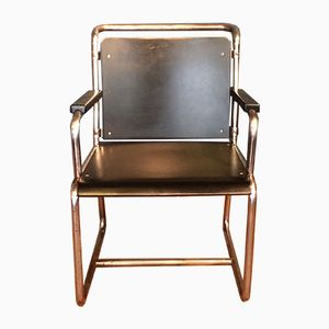 Vintage Tubular Steel Armchair