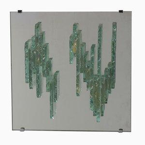 Applique da parete modello C1517 in vetro scultoreo di Raak, anni '60