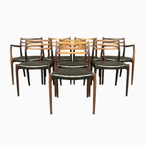 Mid-Century Esszimmerstühle von Niels Otto Møller für J.L. Møllers, 1960er, 8er Set