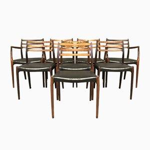 Sedie da pranzo Mid-Century di Niels Otto Møller per J.L. Møllers, anni '60, set di 8