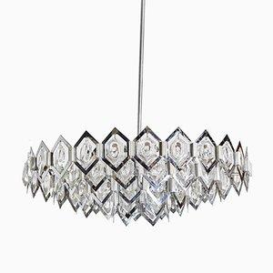 Lámpara colgante vintage de metal cromado con formas geométricas, años 70