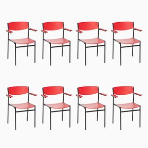 Stackable Armchairs by Gijs Van Der Sluis for Ahrend De Cirkel, Set of 8