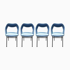 Chaises de Salle à Manger par Louis Paolozzi pour Zol, 1950s, Set de 4