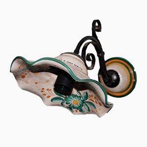 Kleine italienische Vintage Wandlampe aus Keramik