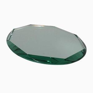 Centro de mesa italiano de vidrio, años 50