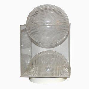 Lampe de Bureau Vintage en Perspex Gravé par Gaetano Missaglia