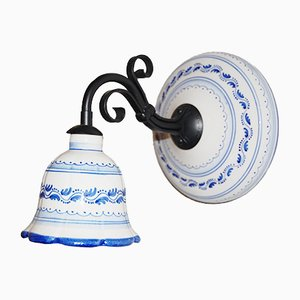 Small Vintage Italian Ceramic Wall Lamp
