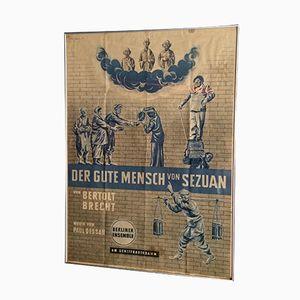 Der gute Mensch von Sezuan Plakat, 1957