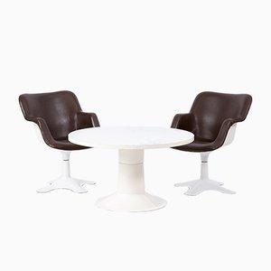 Vintage Esstisch & 2 Stühle von Yrjo Kukkapuro fürr Haimi