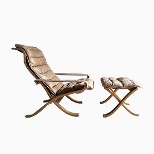 Flex Sessel & Fußhocker von Ingmar Relling für Westnofa, 1960er