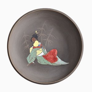 Mid-Century Ceramic Wall Plate by Arno Kiechle, 1950s