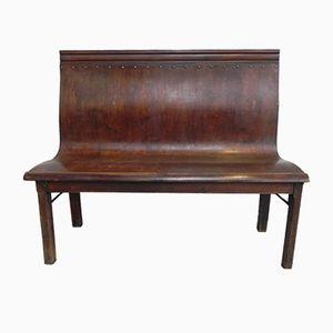 Banco de cafetería vintage de madera