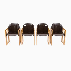 Dialogo Chairs by Tobia & Afra Scarpa for B&b Italia, 1970s, Set of 4