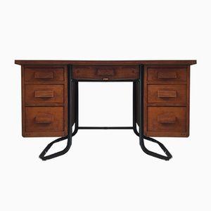 Vintage Schreibtisch aus Eiche & Metall