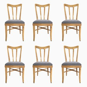 Esszimmerstühle aus Kirschholz, 1940er, 6er Set