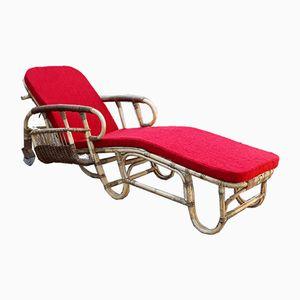 Chaise longue vintage di Adrien Audoux e Frida Minet, anni '50