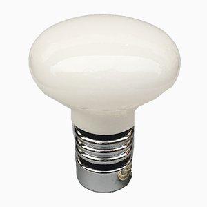 Lampe de Bureau en Forme d'Ampoule Vintage en Verre Opalin, 1970s