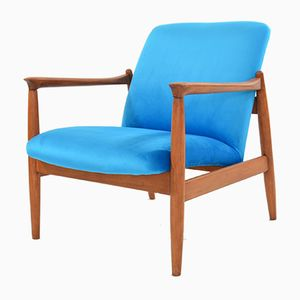 Vintage Model GMF-64 Neon Blue Armchair by Edmund Homa