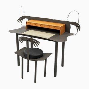 Scrivania e sedia Entremanos di Andrés Nagel per Akaba, anni '80