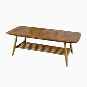 Mid-Century Coffee Table with Magazine Rack by Lucian Ercolani for Ercol