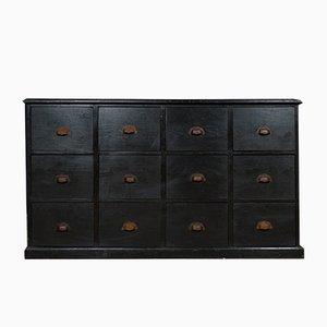 Cassettiera vintage nera