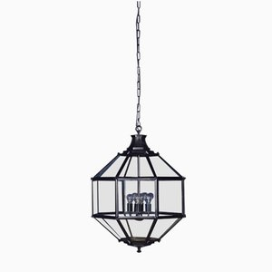 Large Vintage Lantern in Black