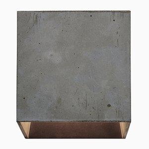 Lampada da parete Cromia grigia scura di Plato Design