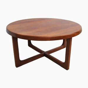 Table Basse Ronde Vintage en Teck