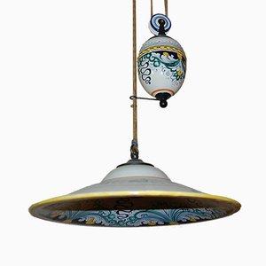 Hängende italienische Vintage Deckenlampe
