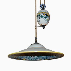 Vintage Italian Suspension Ceiling Lamp