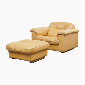 Vintage Modell DS 101 Sessel mit Fußhocker von de Sede