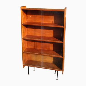Glass Fronted Teak Bookcase, 1960s