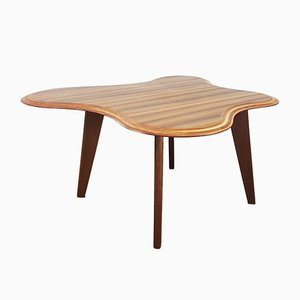 Queensland Walnut Cloud Table by Neil Morris for Morris of Glasgow, 1940s