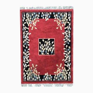 Handgefertigter indischer Vintage Teppich