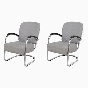 Model 436 Tubular Lounge Chairs by Paul Schuitema for D3 Rotterdam, 1930s, Set of 2