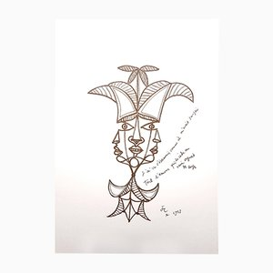 Litografia Three Persons or One di Jean Cocteau, 1958