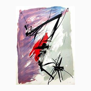 Lithographie Composition Abstraite par Jean Miotte, 1970s