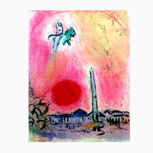 Concord's Place Lithografie von Marc Chagall, 1962