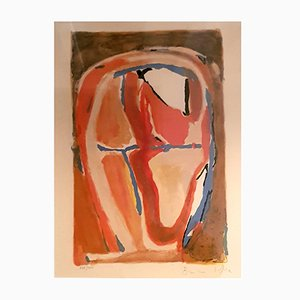 Abstract Composition Lithografie von Bram van Velde, 1950er