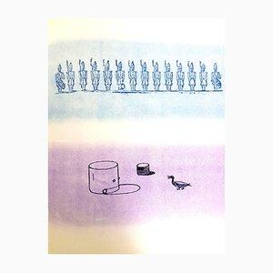 Lithographie The Soldier par Max Ernst, 1972