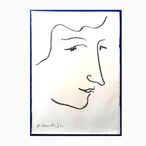 Colette Lithograph by Henri Matisse, 1951