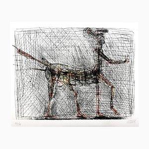 Hommage an Picasso Zentaur Radierung von César Baldaccini, 1985
