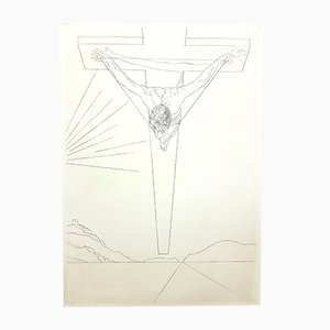 Aguafuerte Cristo de Salvador Dalí, 1951