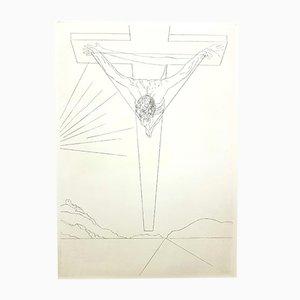 Gravure à l'Eau Forte Christ par Salvador Dali, 1951