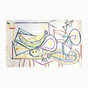 Lithographie Composition par Pablo Picasso, 1948