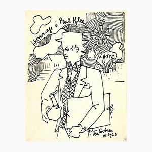 Litografia Tribute to Paul Klee di Jean Cocteau, 1962