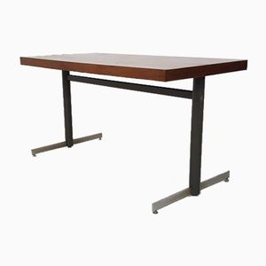 Teak and Metal Industrial Dining Table, 1960s