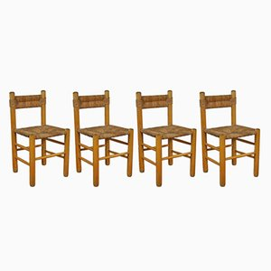 Dordogne Dining Chairs by Charlotte Perriand for Sentou, 1960s, Set of 4