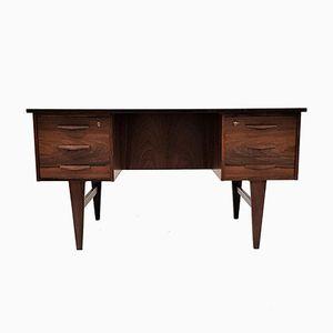 Freistehender dänischer Schreibtisch aus Rio-Palisander, 1960er