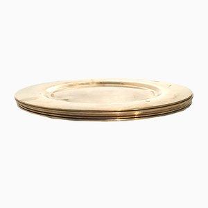 Dänische Vintage Teller aus Messing von Stelton, 6er Set